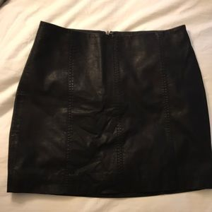 Faux Leather Free People Skirt